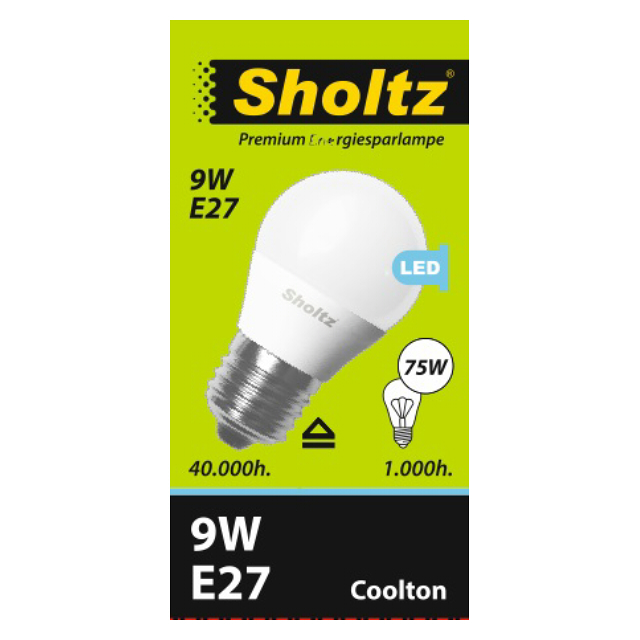 лампа светодиодная SHOLTZ 9Вт E27 700лм 4000K 220В шар
