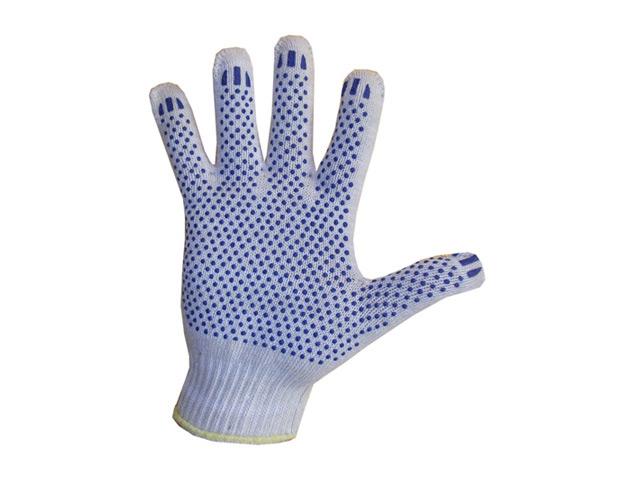 перчатки хозяйственные с ПВХ 3 нити, 1 пара