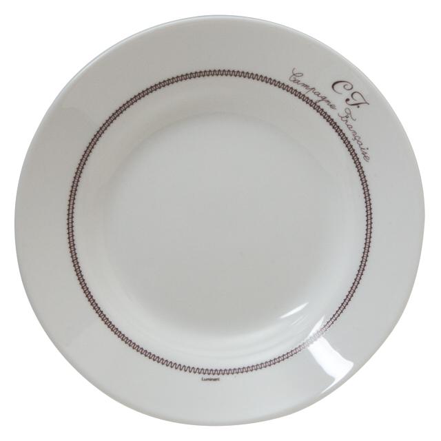 тарелка LUMINARC Бродери 22см глубокая стекло цена