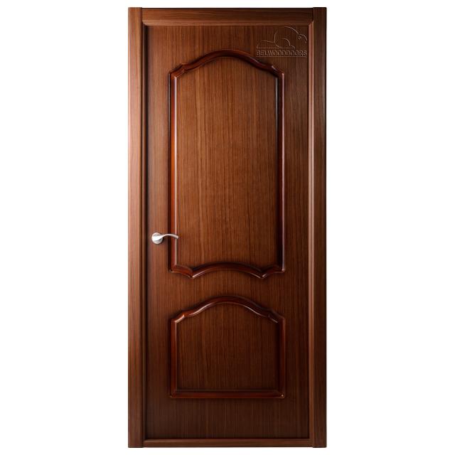 полотно дверное Каролина L ПГ 2х0,7м шпон орех