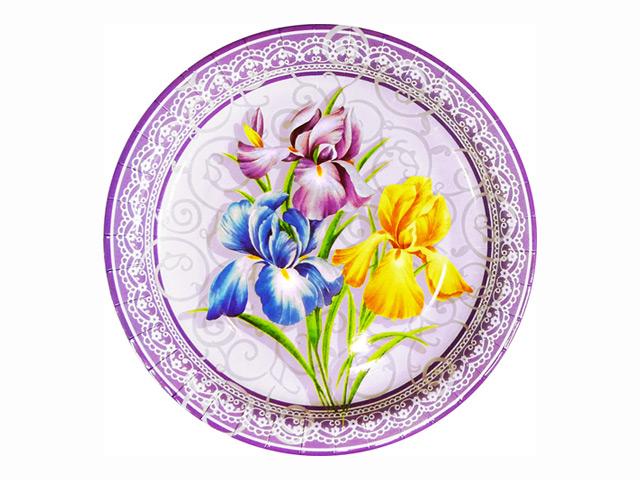 набор тарелок ANTELLA Ирисы 8шт 23см бумага
