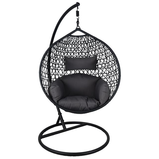 качели Кокон круглый темно-серый кокон подушка