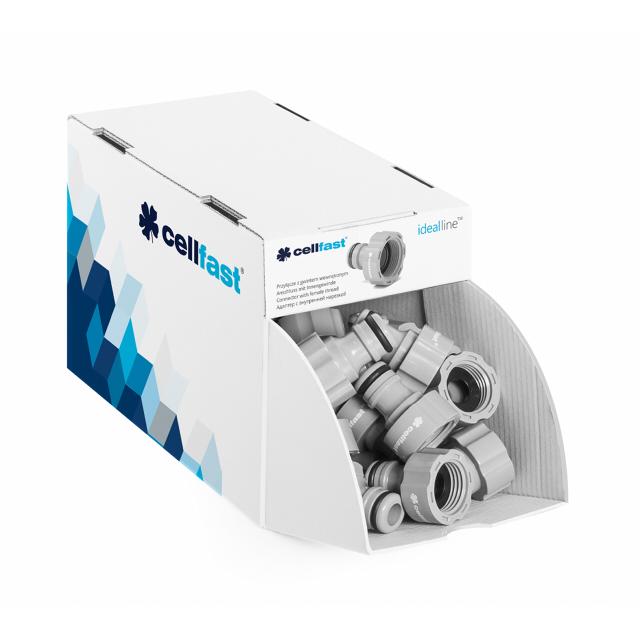 адаптер CELLFAST Basic 1/2 внутренняя резьба пластик