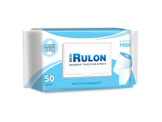 бумага туалетная влажная с клапаном Mon Rulon, 50 шт.