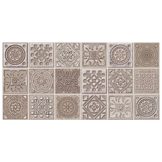 декор настенный 20,1х40,5 GRAZIA Mocca Nefertiti мозаика, коричневый бордюр azori grazia grey nefertiti 6 2х40 5 см