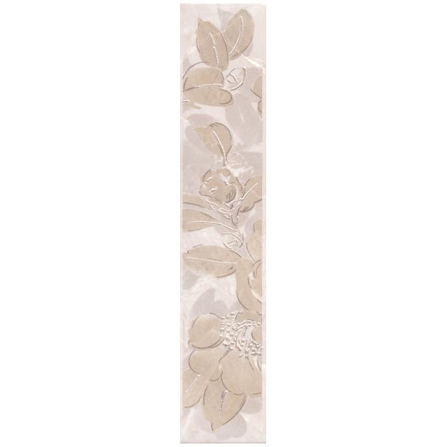 бордюр настенный 30х5,7 БАККАРА цветы, бежевый бордюр kerama marazzi терраса a1863 tu0031 42x8
