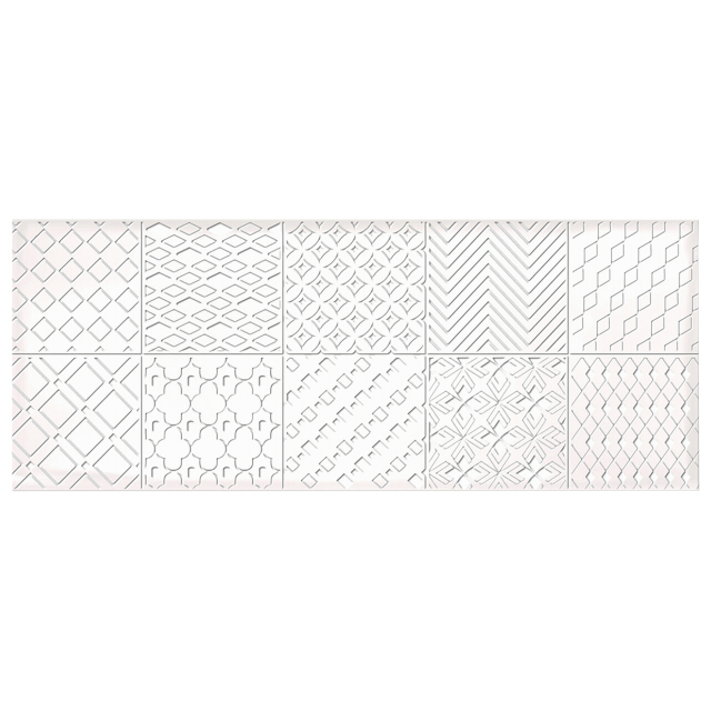 декор настенный 20,1х50,5 NUVOLA Ornament, белый