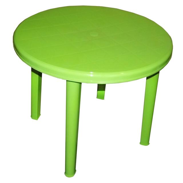 стол пластиковый круглый 90х90х71см салатовый