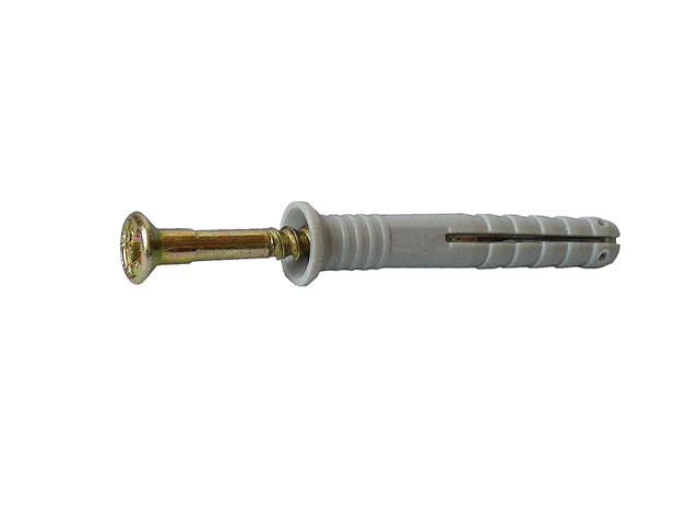 дюбель-гвоздь полипропиленовый с потайной манжетой, 8х80 мм, 50 шт