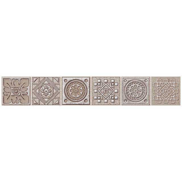 бордюр настенный 40,5х6,2 GRAZIA Mocca Nefertiti мозаика, коричневый бордюр azori grazia grey nefertiti 6 2х40 5 см