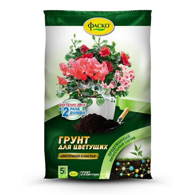 почвогрунт ФАСКО для цветущих 5л фаско
