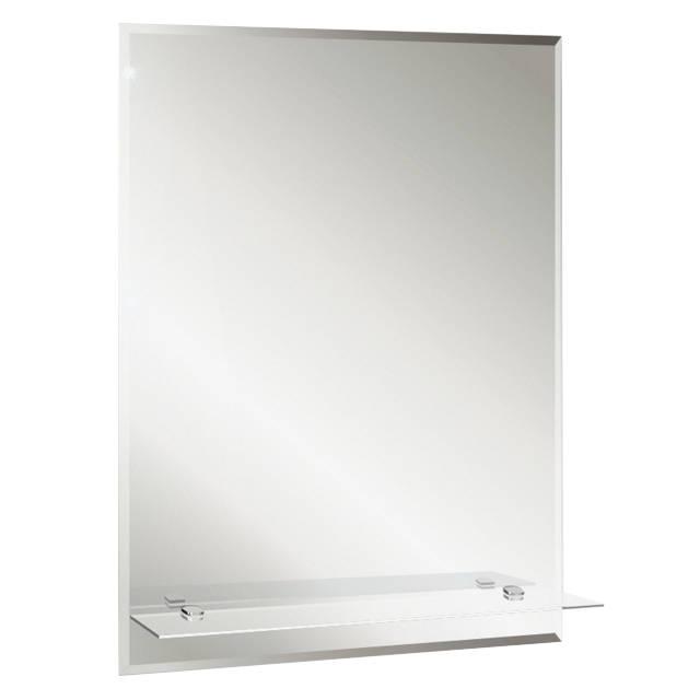 зеркало для ванной Модерн Люкс 49,5х68,5 см с полкой фацетом 1
