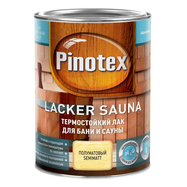 лак в д акриловый для бань и саун aura sauna lack 1л п мат лак д/саун PINOTEX Lacker Sauna 1л полуматовый, арт.5254107