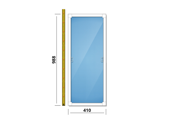 сетка противомоскитная д/окна ПВХ 410х988мм в сборе окна