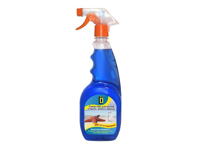 средство чистящее Big D Морская свежесть д/мытья стекол, око средство чистящее domestos свежесть атлантики универс 24час