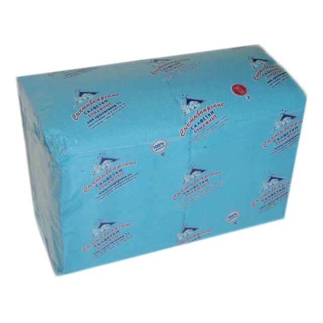 салфетки Голубые 1-слойные 24х24см 400шт