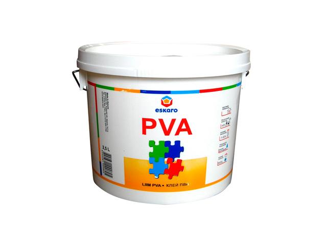 клей ПВА Eskaro PVA 2,5л универсальный, арт.0679 клей мебельный eskaro b 3 влагостойкий 2 5л арт 0716