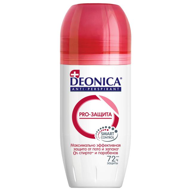 дезодорант женский DEONICA Pro-Защита, 45 мл, ролик
