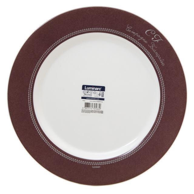 тарелка обеденная luminarc maritsa purple 26 см тарелка LUMINARC Бродери 26см обеденная стекло