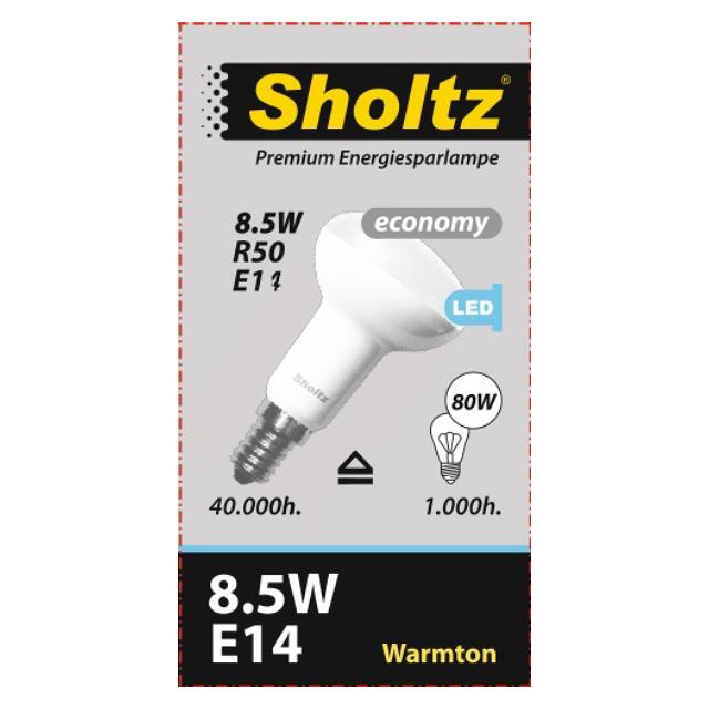 лампа светодиодная SHOLTZ 8,5Вт E14 3000К 220В рефлектор теплый пол теплолюкс profimat160 8 0