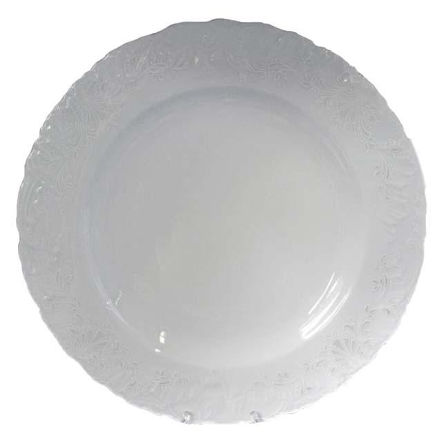 тарелка десертная Рококо Платина, 19см, фарфор тарелка рококо платина 25см обеден фарфор