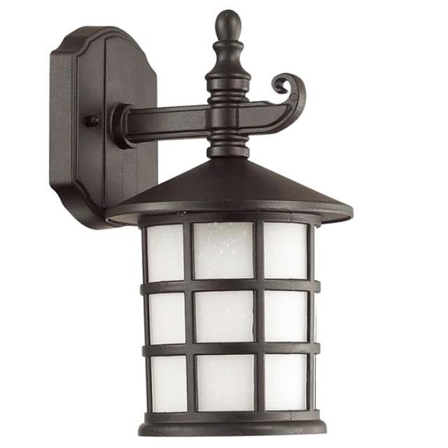 светильник уличный настенный ODEON LIGHT House E27 60Вт черный вниз