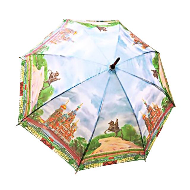 все цены на зонт женский трость Спас/Медный всадник 106см онлайн