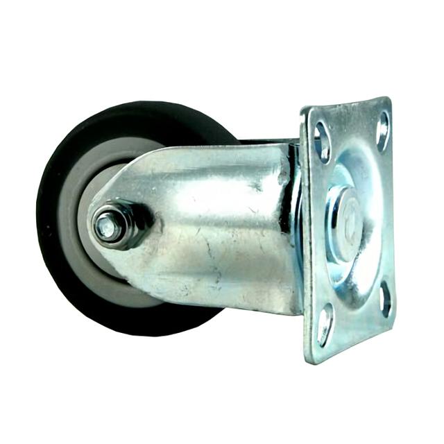 колесо неповоротное на квадратной площадке, 50 мм, резина