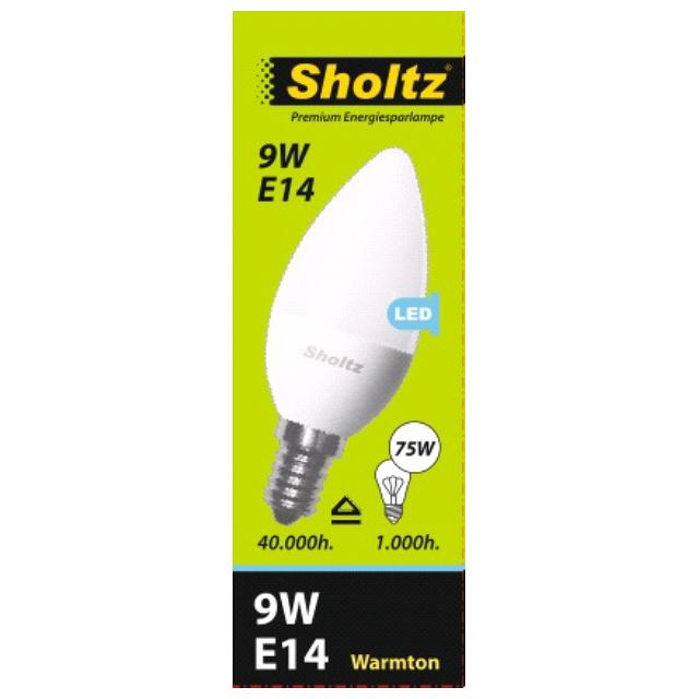 лампа светодиодная SHOLTZ 9Вт E14 700лм 2700K 220В свеча