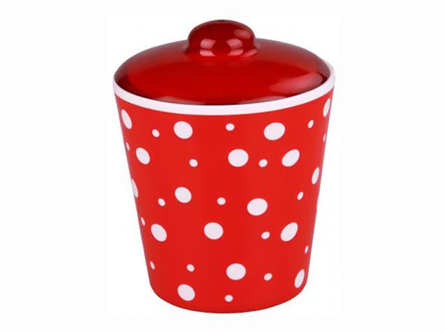 банка д/продуктов Горошек 1л круглая пластик чаша горошек 2 л бел син 1150426