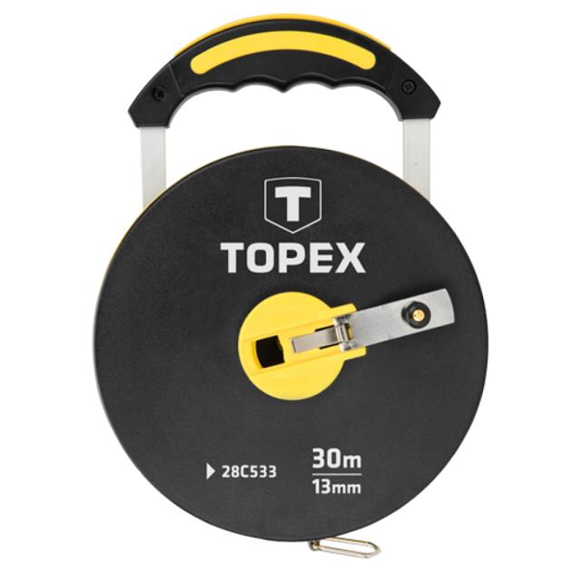 рулетка TOPEX 30мx13мм геодезическая рулетка 30м kapro 660 30