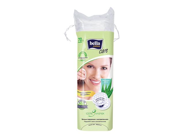 диски ватные BELLA Cotton Care с экстрактом алоэ, 70 шт диски ватные bella cotton care с экстрактом алоэ 100 шт