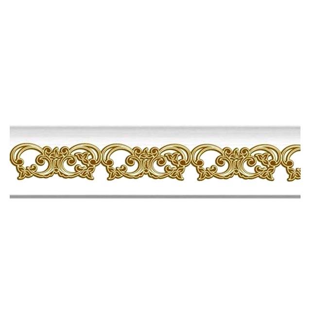 плинтус потолочный МартинПласт экструдированный 2м 39х39мм золото
