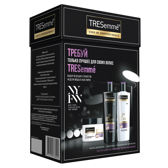 набор TRESEMME Repair and Protect: шампунь 230мл, кондиционер 230мл, маска 300мл спиннинг aqua red fish 2 10m 10 30g