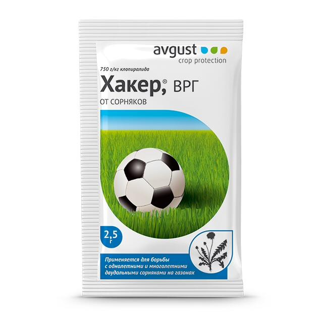 гербицид Хакер 2,5г средство от сорняков раундап monsanto avgust 1 л