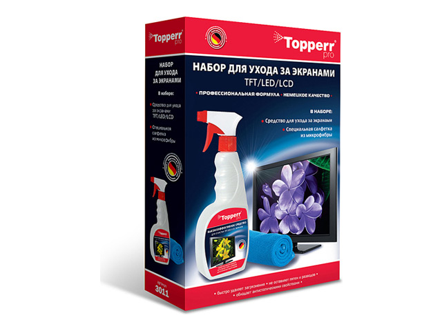набор для ухода за мониторами TOPPERR 3011 2предм. недорого