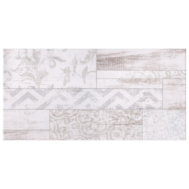 плитка настенная 25х50 SAN REMO геометрия, белая
