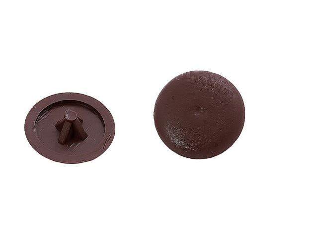 заглушка на шуруп PZ2 пластик коричневый 100шт