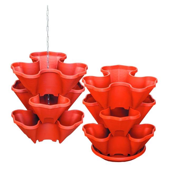 купить каскад для цветов 3 терракот пластик дешево