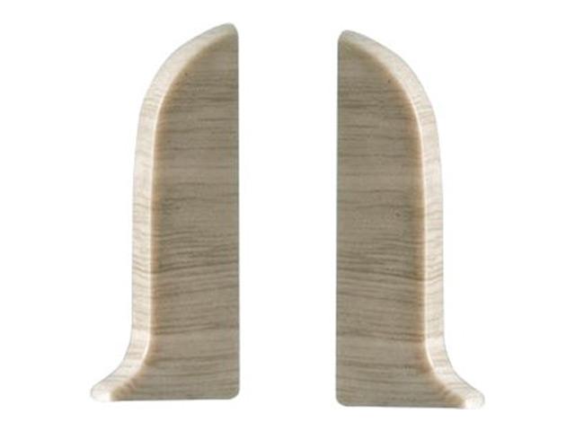 Фото - заглушки для плинтуса ПВХ SALAG NGF 56мм Дуб полярный левая+правая заглушки для плинтуса пвх salag ngf 56мм дуб каньон левая правая