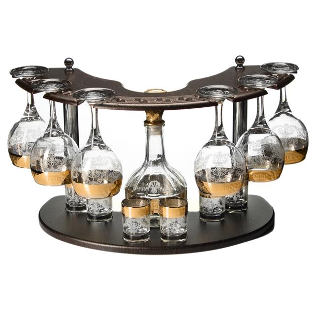 минибар для вина и водки Гармония, 13 предметов, cтекло с декором