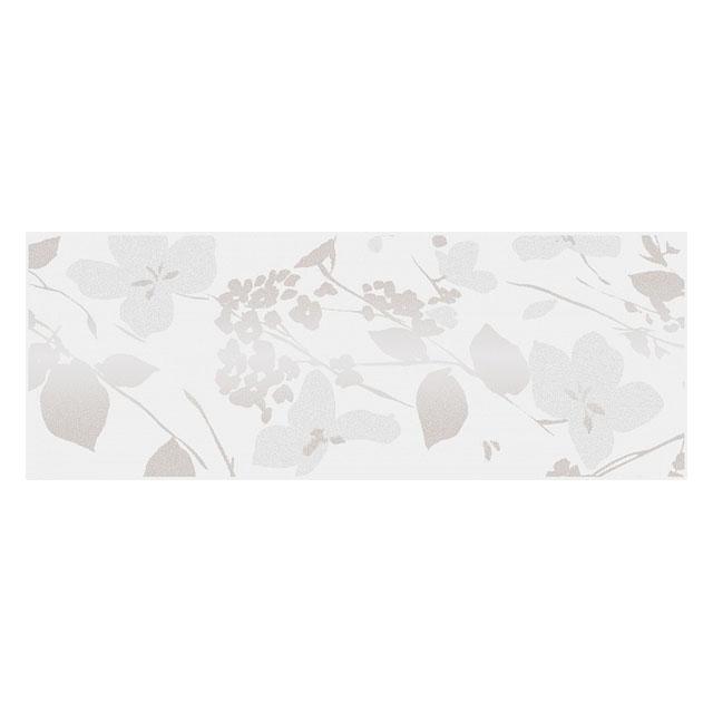 декор настенный 15х40 ВИЛЛАНЕЛЛА цветы, белый бордюр настенный 40х3 вилланелла белый