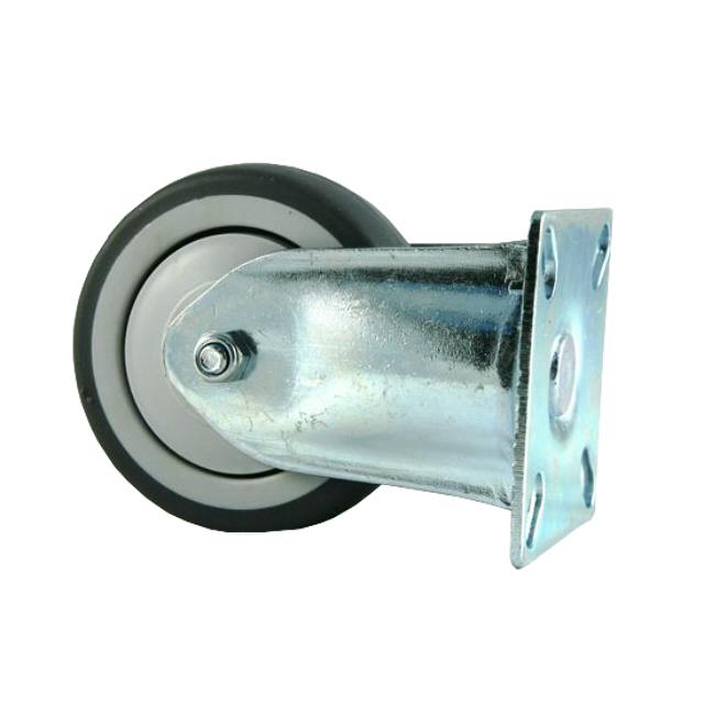 колесо неповоротное на площадке, 75 мм, резина