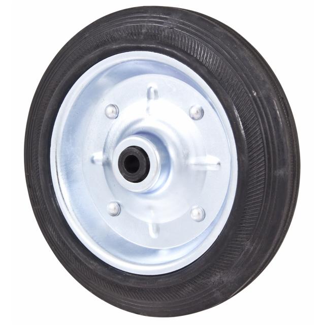 колесо металлическое 140мм резина