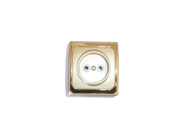 розетка б/з о/п ДЕЛЬТА золотой металлик/золото кольца кюз дельта 114454 d