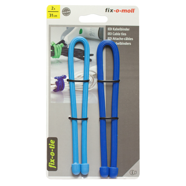 стяжка кабельная FIX-O-MOLL 310х6мм синий/голубой 2шт shure mx153c o tqg