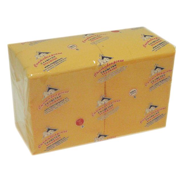 салфетки Желтые 1-слойные 24х24см 400шт