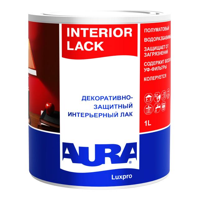 цена на лак акриловый AURA Interior Lack 1л полуматовый, арт.4607003910747