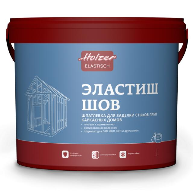 шпатлевка готовая HOLZER Эластиш шов 4кг белая, арт.82908.