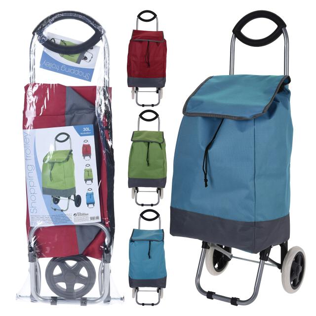 тележка с сумкой 92х35х28см до 20кг полиэстер в асс-те